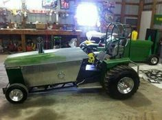 how to build a pulling lawn tractor