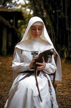 'The Nun's Story', 1959 - Audrey Hepburn as Sister Luke in the Belgian Congo…