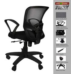 Rating : 3.6 out of 5  Reviews : More than 300 reviews about it.  The reviews and rating indicate it is a good one  It's approximate price is Rs. 3,800 Best Computer Chairs, Student Chair, Mesh Chair, Home Office Chairs, Study Office, In The Heights, India, Goa India, Indie