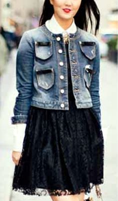 yes, this is how I renew my old jeans jacket: Chanel -like !