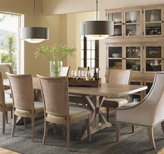 Dining Room: Decorating with a Farmhouse Table - Riffing On
