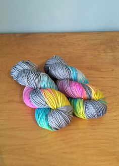 """Hand-Dyed MCN Worsted Yarn """"Silver Lining"""" Merino Wool Cashmere Nylon Worsted Weight Yarn JuliannasFibre"""