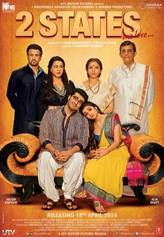 2 States Movie Kickass This movie chronicles how Chetan met his wife and the difficulties they faced due to their cultural differences. Movies 2014, New Movies, Movies Free, Upcoming Movies, 2 States Movie, Marriage Movies, Hindi Movies Online, Hd Movies Download, Movie Downloads