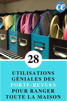 28 Utilisations Géniales des Porte-Revues Pour Ranger TOUTE la Maison.