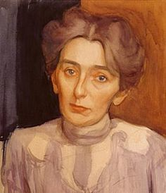Aino Sibelius 1905 (Artist's sister and the wife of the Finnish national composer Jean Sibelius), artist: Eero Jarnefelt - Eero Järnefelt Helene Schjerfbeck, Silver White Hair, Older Beauty, Prinz Eugen, Anna, Victorian Life, Romantic Period, Modern Portraits, Beauty In Art