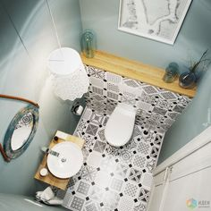 Trendy bathroom scandinavian style home tours Bathroom Design Luxury, Bathroom Design Small, Bad Inspiration, Bathroom Inspiration, Small Toilet Room, Tiny Powder Rooms, Scandinavian Style Home, Powder Room Design, Regal Design
