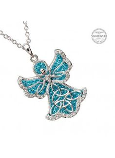 celtic-angel-pendant-with-aquamarine-swarovski-crystals