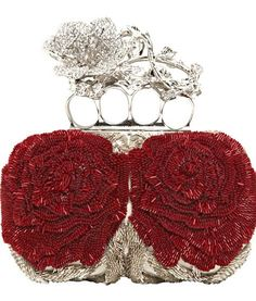 Alexander McQueen ● Beaded Roses Knucklebox Clutch