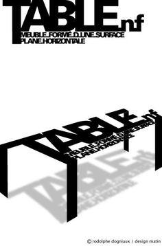 Définition, Typographie, Objets