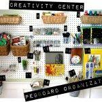 Pegboard Organization: Our Creativity Center