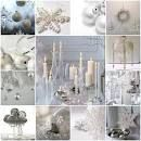 christmas in white and silver