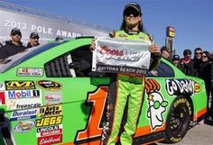 GALLERY: DANICA PATRICK MAKES HISTORY  She becomes the first woman to secure the top spot for any race in NASCAR's premier circuit by winning the Daytona 500 pole.
