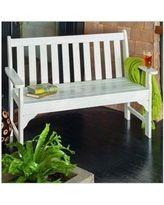 Polywood Vineyard 48 inch Bench in White