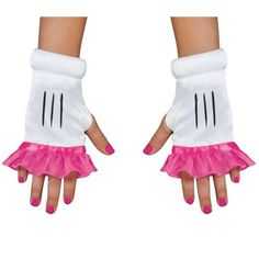 Pink Minnie Mouse Fingerless Glovettes For Girls