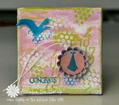 Some fiddling on the kitchen table: New Art Journey Stamps #7