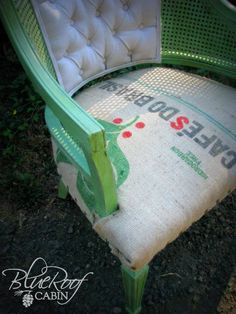 blue roof cabin: Coffee Sack Upholstered Chair