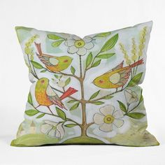 Cori Dantini Vibrant Crayon Throw Pillow - 127