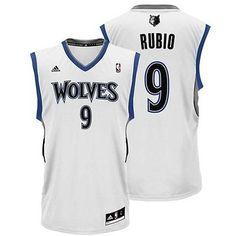 813a85756c2 Adidas Minnesota Timberwolves Ricky Rubio NBA Basketball Replica Jersey  White