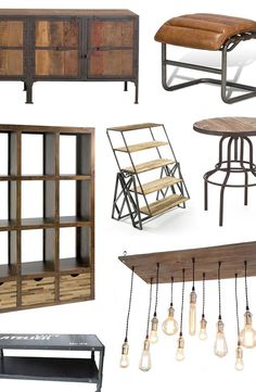Industrial Modern Furniture & Décor   dotandbo.com