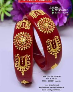 Silver Jewellery Indian, Indian Wedding Jewelry, Gold Jewelry, Beaded Jewelry, Gold Bangles Design, Silver Bangles, Jewelry Design, Gold Kangan, Bridal Bangles