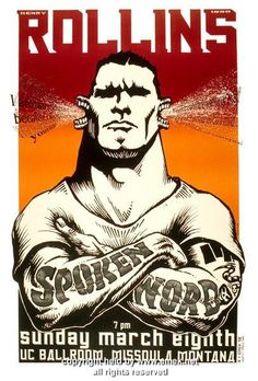 1998 Henry Rollins Spoken Word Silkscreen Poster by Emek