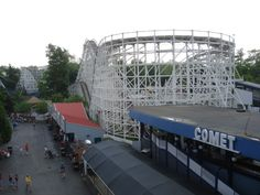 Comet, Hershey Park (PA) My favorite roller coaster in my favorite theme park. FYI: When it comes to the wooden vs. steel debate among roller coaster enthusiasts, I'm definitely all about the wooden coasters. Hills and turns have it all over cork screws and loops! :)