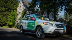 My first time with the Google Streetview Car. In #Chautauqua, no less. #Chq #dailyphoto