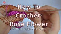 How to Crochet Rose Flower