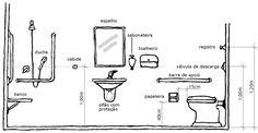 normas banheiro pne escola - Pesquisa Google Architecture Symbols, Plumbing Installation, Concrete Slab, Bathroom Layout, Bath Design, Interior Inspiration, Floor Plans, House Design, Artist Cake