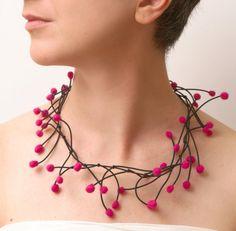 Yianna Georgiadou - Anemone necklace - felt