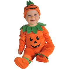 Cute Pjs-Pumpkin Infant Halloween Costume