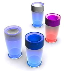 Light Cup  $12.95.  Unbreakable, unspillable cup that glows in the dark.