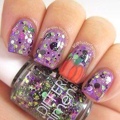 halloween fall  by lusterlacquer  #nail #nails #nailart