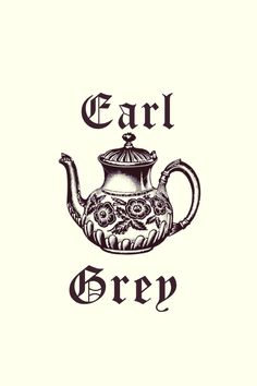Tea Party Time : Earl Grey Teapot Art