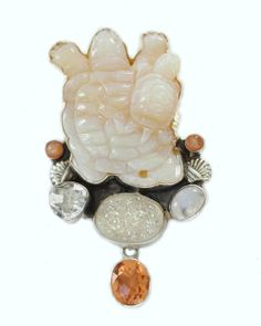 Amy Kahn Russell -- Mother & Baby Turtle Pin-Pendant  Price: $$488.00