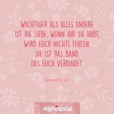 Wichtiger als alles andere ist die Liebe. Wenn ihr sie habt, wird euch nichts fehlen. Sie ist das Band, das euch verbindet. #zitate #hochzeit #liebesspruch #liebessprüche #liebe #ehe #heiraten #liebeszitat #zitatdestages #quote #spruch #deutsch #zitat