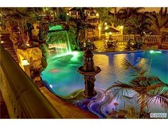 Dream Home. Dream Pool. Grotto, waterfall, water slide