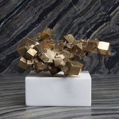 SUPERLUXE ACOLYTE SCULPTURE Bronze Sculpture, Sculpture Art, Most Luxurious Hotels, Leather Box, Kelly Wearstler, Coffee Table Books, Celebrity Houses, Decorative Objects, Solid Brass