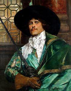 https://flic.kr/p/rbwEih   Alex de Andreis - A Cavalier in Green Holding a Sword