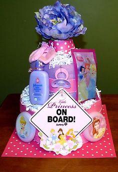 Disney Princess Diaper Cake