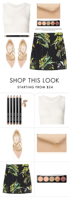 """""""..."""" by yexyka ❤ liked on Polyvore featuring Bobbi Brown Cosmetics, MM6 Maison Margiela, Nly Shoes, Henri Bendel and Proenza Schouler"""