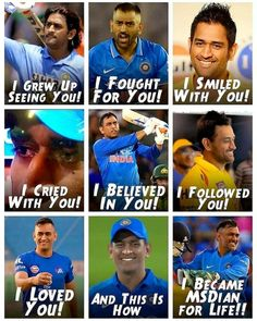 Only MSDhoni fans can relate to this. Sums up our life! India Cricket Team, Cricket Sport, Icc Cricket, Bollywood Funny, Bollywood Songs, Ms Doni, Ziva Dhoni, Premier League, History Of Cricket