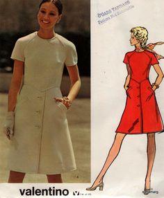 Vogue 2730 Couturier Design Valentino A line dress