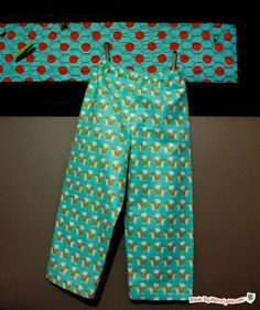 Sew flannel or fleece pajama pants with this free PDF pattern and video tutorial! Sizes 6 months-7 years; for babies, toddlers, and kids! www.madebymarzipan.com