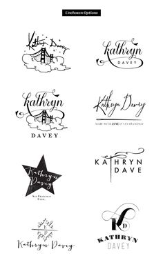 Whimsical Logo Design for Kathryn Davy. really love the dreamy qualities of this one.