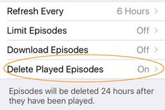 Stopping Old Podcast Episodes From Self-Destructing Like other podcast-catching software Apples app includes controls for keeping or automatically deleting episodes you have already heard. Technology Mobile Applications Podcasts iPhone
