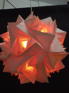 Paper folded lamp shade #TTDW
