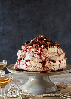 Black forest pavlova                                                                                                                                                                                 More