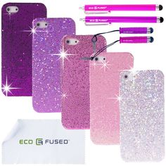 Bling purple iPhone cases... If I ever get an iPhone