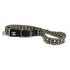 Explore the newest Leather Belts on the CHANEL website, featuring the latest styles and looks, made with the quality craftsmanship of the House of Chanel. High Jewelry, Cute Jewelry, Rock And Roll, White Belt, Black Belt, Luxury Belts, Chanel Store, Older Women Fashion, Branded Belts